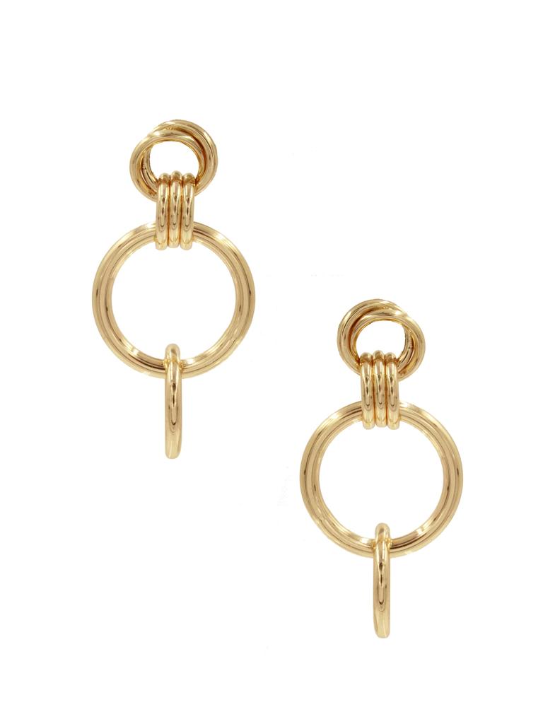 8 Other Reasons x Jill Jacobs oorbellen met ringen goud
