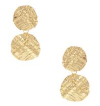 8 Other Reason 8 weitere Gründe x Jill Jacobs Ohrringe mit strukturiertem Gold