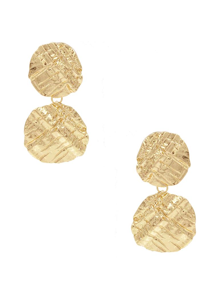 8 Other Reasons x Jill Jacobs oorbellen met textuur goud