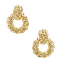 8 Other Reason 8 weitere Gründe x Jill Jacobs-Ohrringe mit gedrehten Golddetails