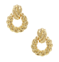 8 Other Reasons x Jill Jacobs earrings with twisted gold details