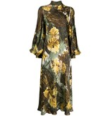 Erika Cavallini Erika Cavallini midi dress with flounced floral print
