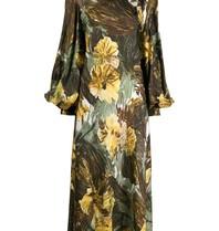 Erika Cavallini Midi-Kleid mit Volant-Blumenprint