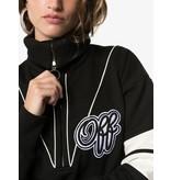 OFF-WHITE Cropped sweatshirt met logo print en rits zwart