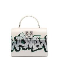 OFF-WHITE Jitney 2.8 met graffiti opdruk wit