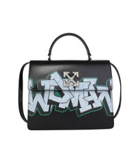 OFF-WHITE Jitney 4.3 bag with graffiti print black