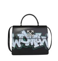 Off-White OFF-WHITE Jitney 4.3 Tasche mit Graffiti Print schwarz