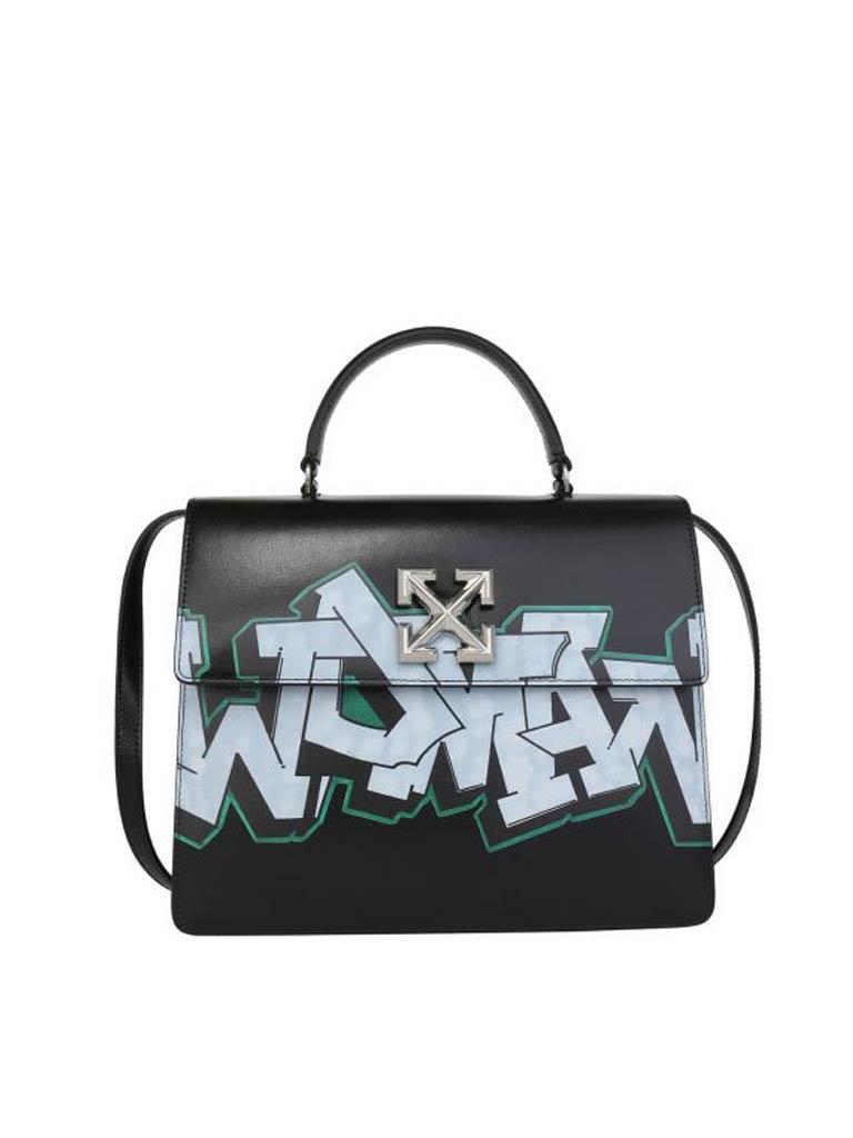 Off-White OFF-WHITE Jitney 4.3 tas met graffiti opdruk zwart