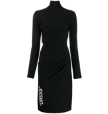 Off-White Gedrapeerde jurk met col zwart