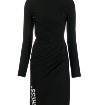 Off-White Draped dress with black turtleneck