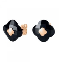 Morganne Bello Morganne Bello earrings onyx rose gold