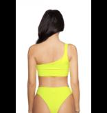 LA Sisters Neon Off-Shoulder Bikini geel
