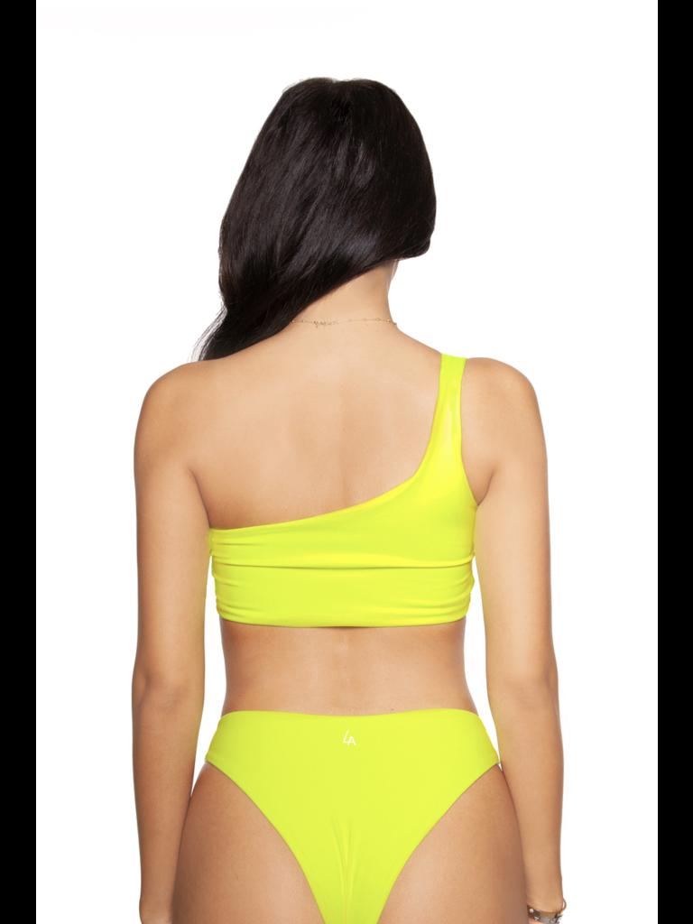 LA Sisters Neon Off-Shoulder Bikini gelb