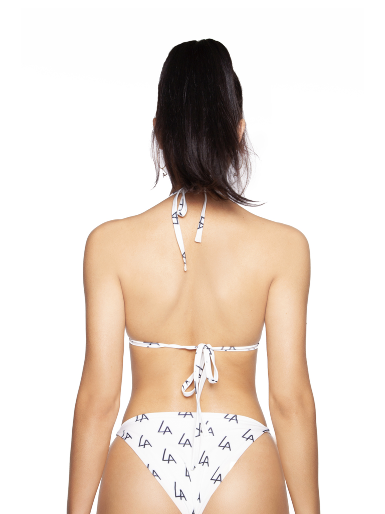 LA Sisters Logo triangle bikini wit