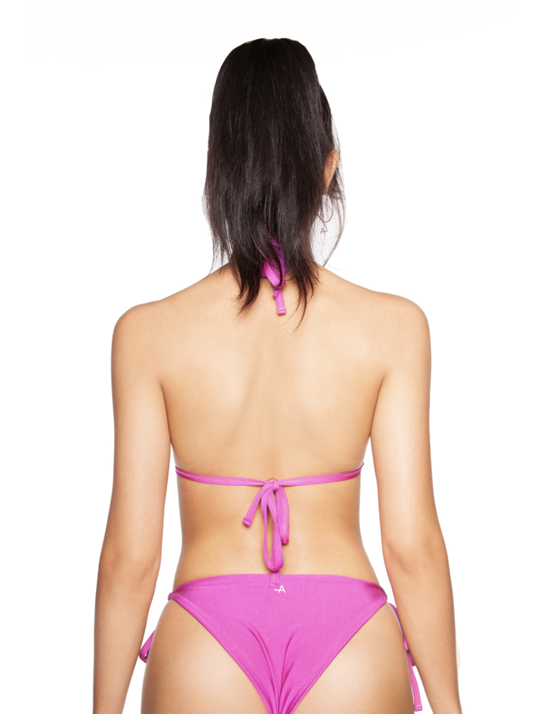 LA Sisters basic triangle bikini fuchsia