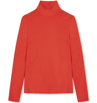 Alix The Label Alix The Label Crepe top met col rood