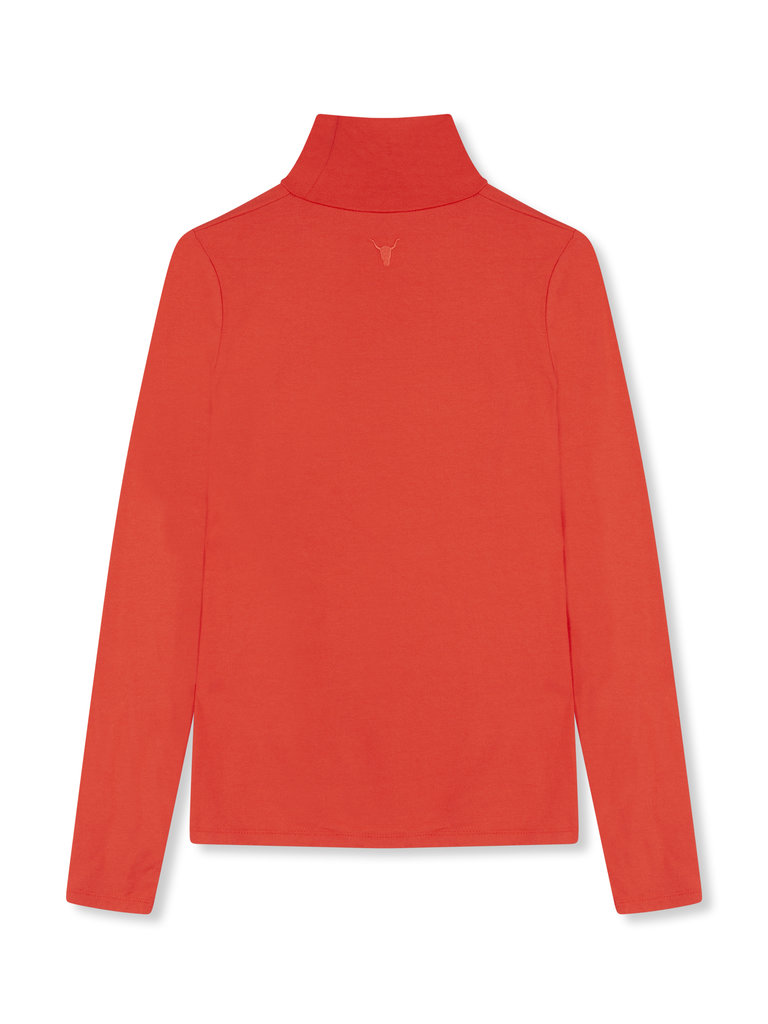 Alix The Label Crepe top with turtleneck blue - Copy