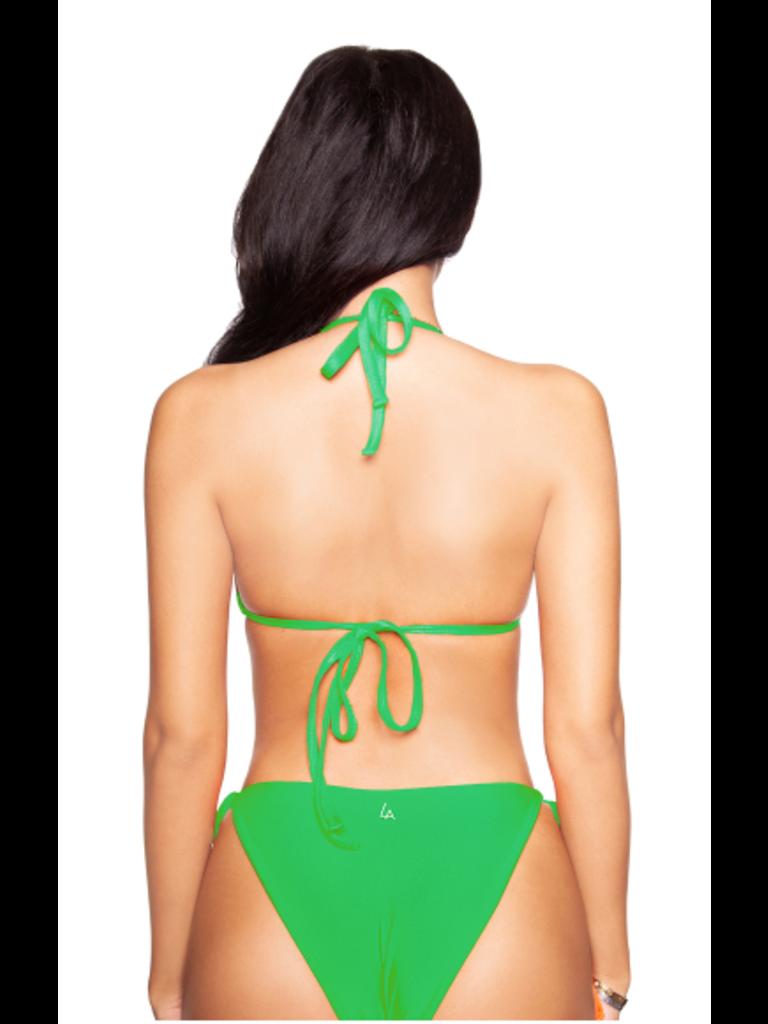 LA Sisters basic triangle bikini green