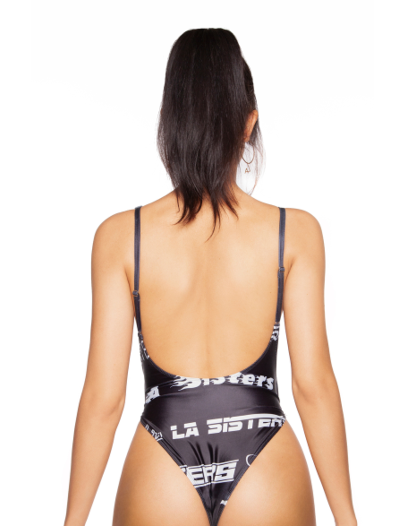 LA Sisters Fonts swimsuit black