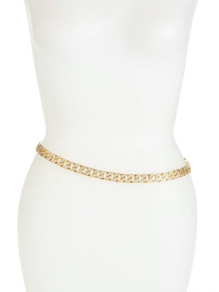 8 Other Reasons x Jill Jacobs chain belt met rhinestones goud