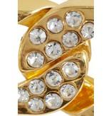 8 weitere Gründe x Jill Jacobs Kettenblätter mit Strasssteinen Gold