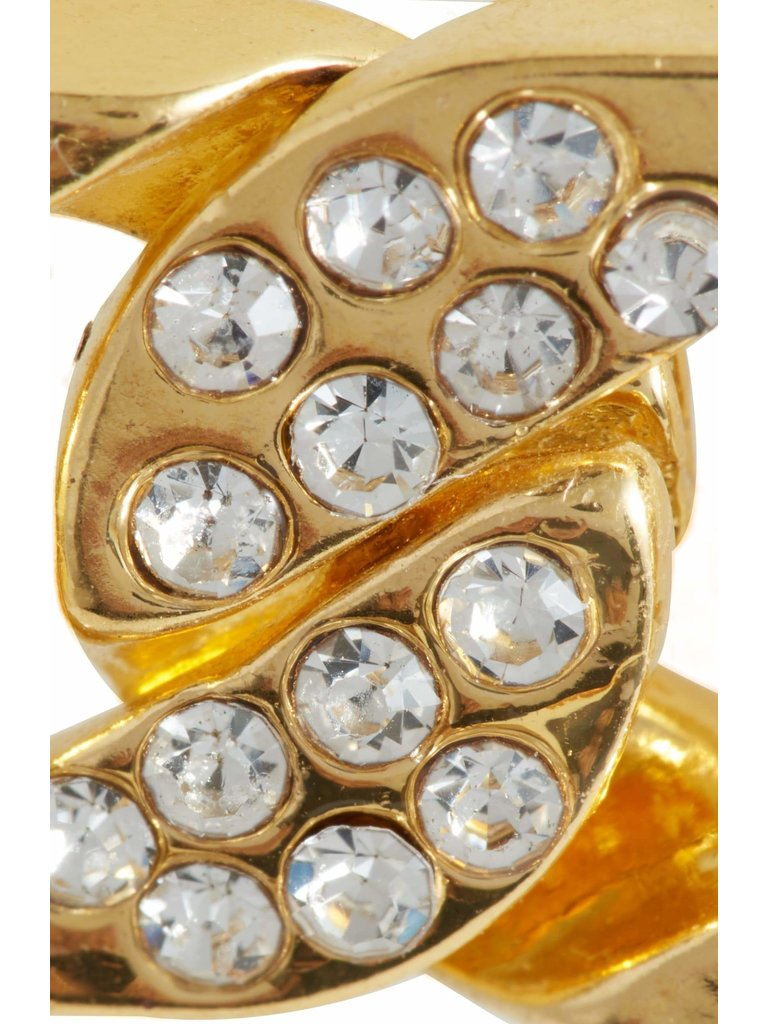 8 Other Reasons x Jill Jacobs chain rings with rhinestones gold