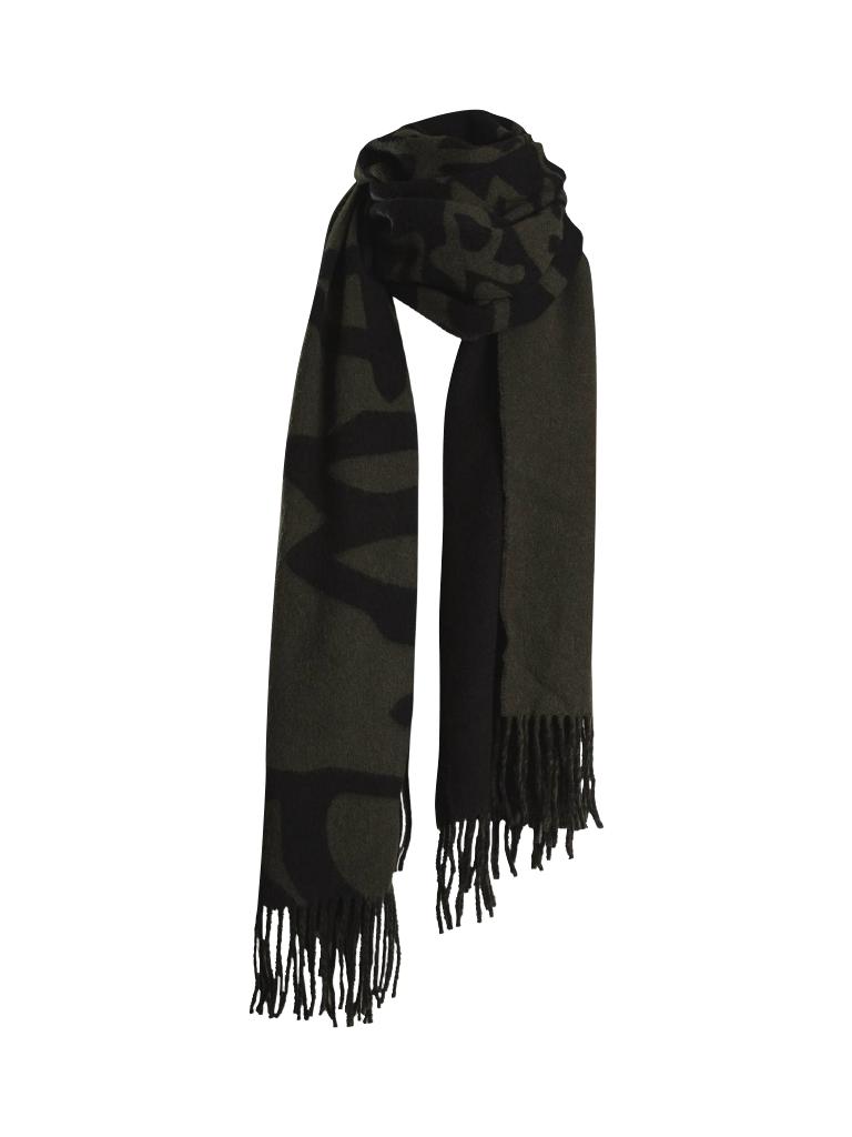 Marithé François Girbaud Signature scarf army green black