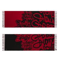 Marithé François Girbaud Marithé François Girbaud Signature sjaal rood zwart