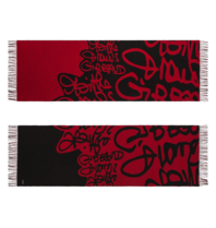 Marithé François Girbaud Signature scarf red black