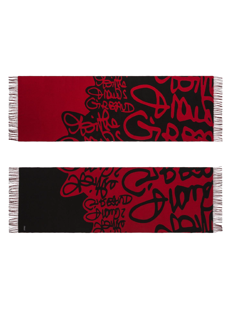 Marithé François Girbaud Signature Schal rot schwarz