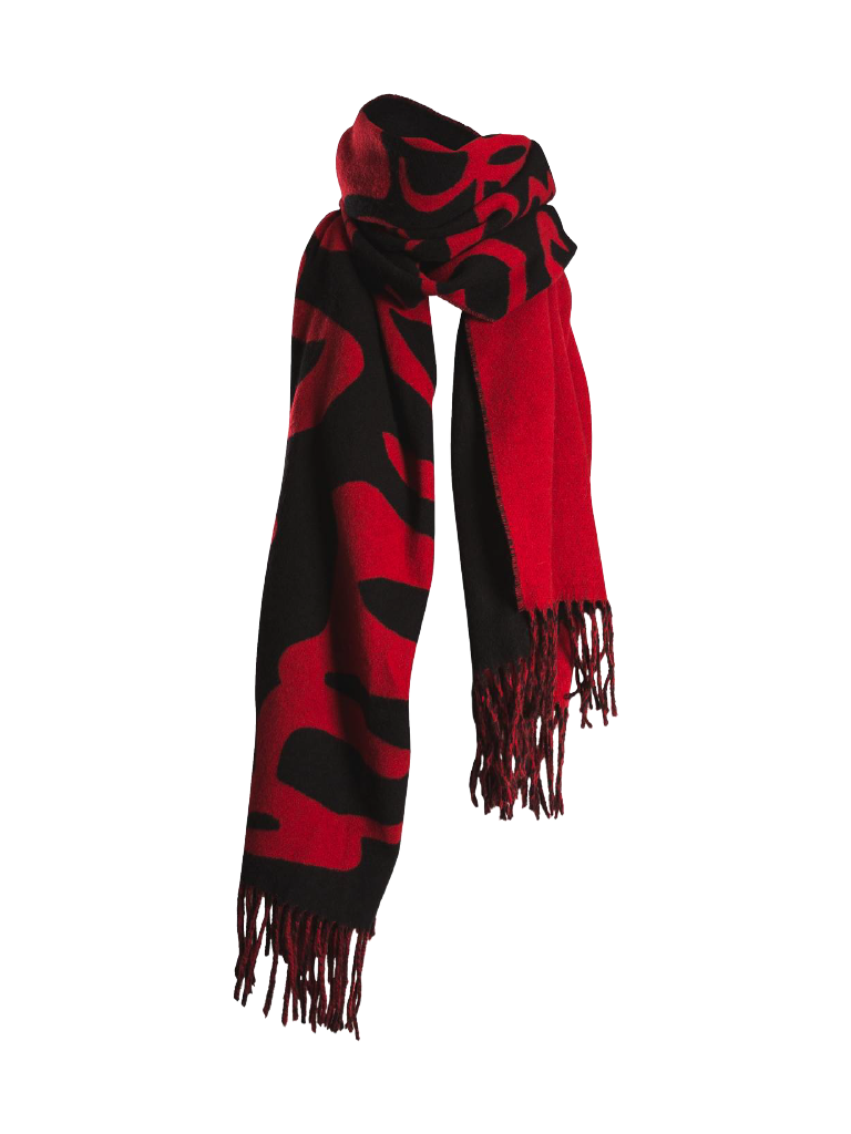 Marithé François Girbaud Signature sjaal rood zwart