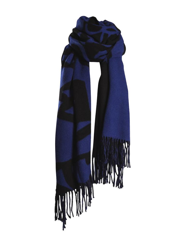 Marithé François Girbaud Signature sjaal blauw zwart