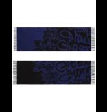 Marithé François Girbaud Signature Schal blau schwarz