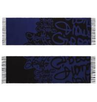 Marithé François Girbaud Signature scarf blue black