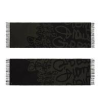 Marithé François Girbaud Signature sjaal legergroen zwart