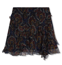 Alix the Label skirt with flounced paisley print