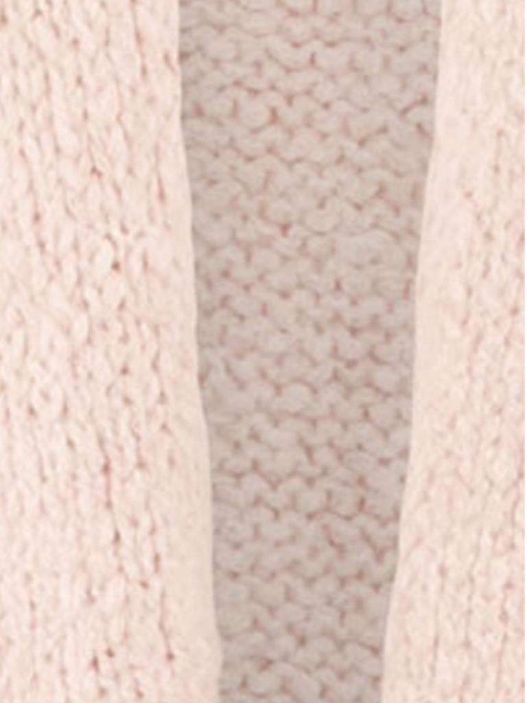Paul x Claire gebreid vest met teskt op de achterkant roze