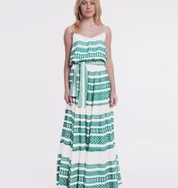 Devotion Devotion maxi dress with print green white