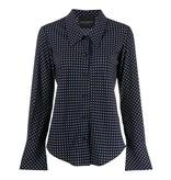 Erika Cavallini blouse met stippen print donkerblauw