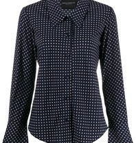 Erika Cavallini blouse with dot print dark blue