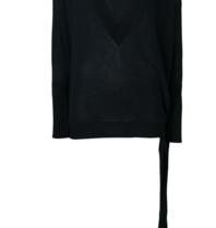 Erika Cavallini V-Neck Sweater mit Knopfdetail blau