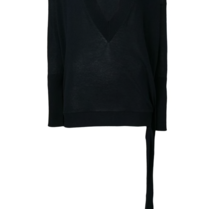 Erika Cavallini v-neck sweater with button detail blue