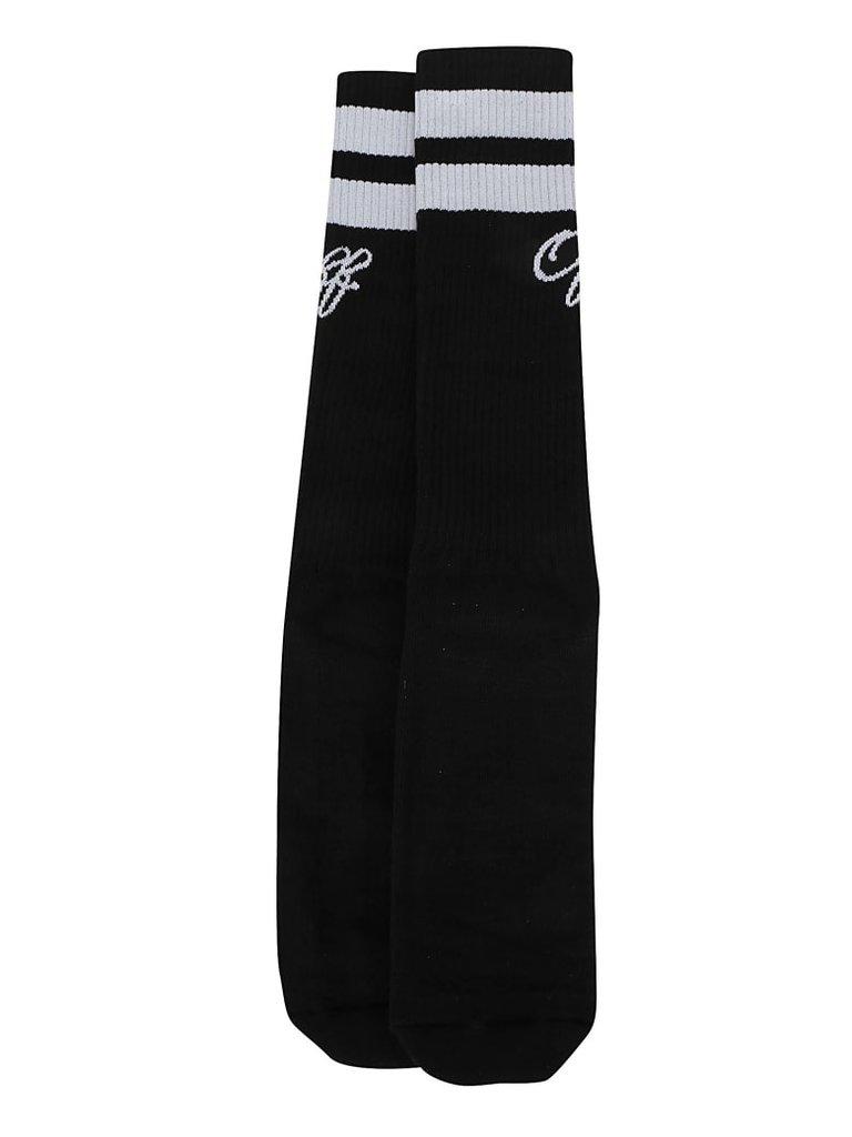 Off-White College sokken met logo zwart