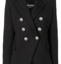 Balmain blazer with silver buttons black