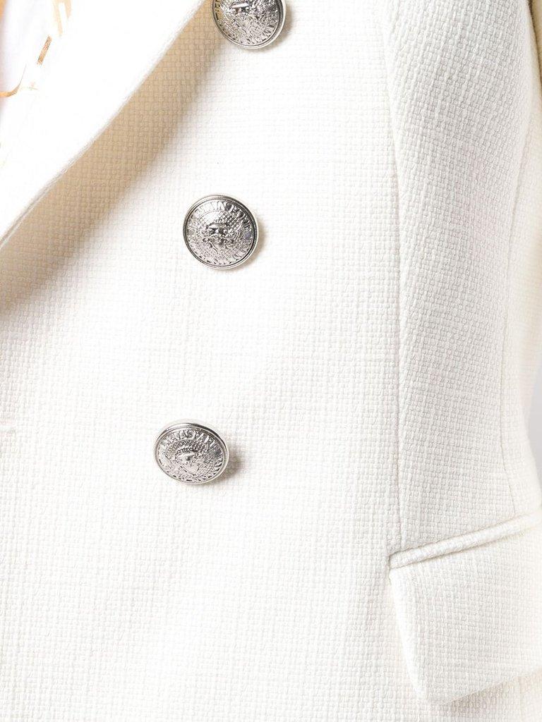 Balmain Blazer mit silbernen Knöpfen weiß