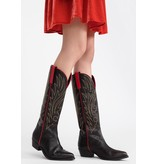 Semicouture Semicouture Michelle cowboy boots with red details black