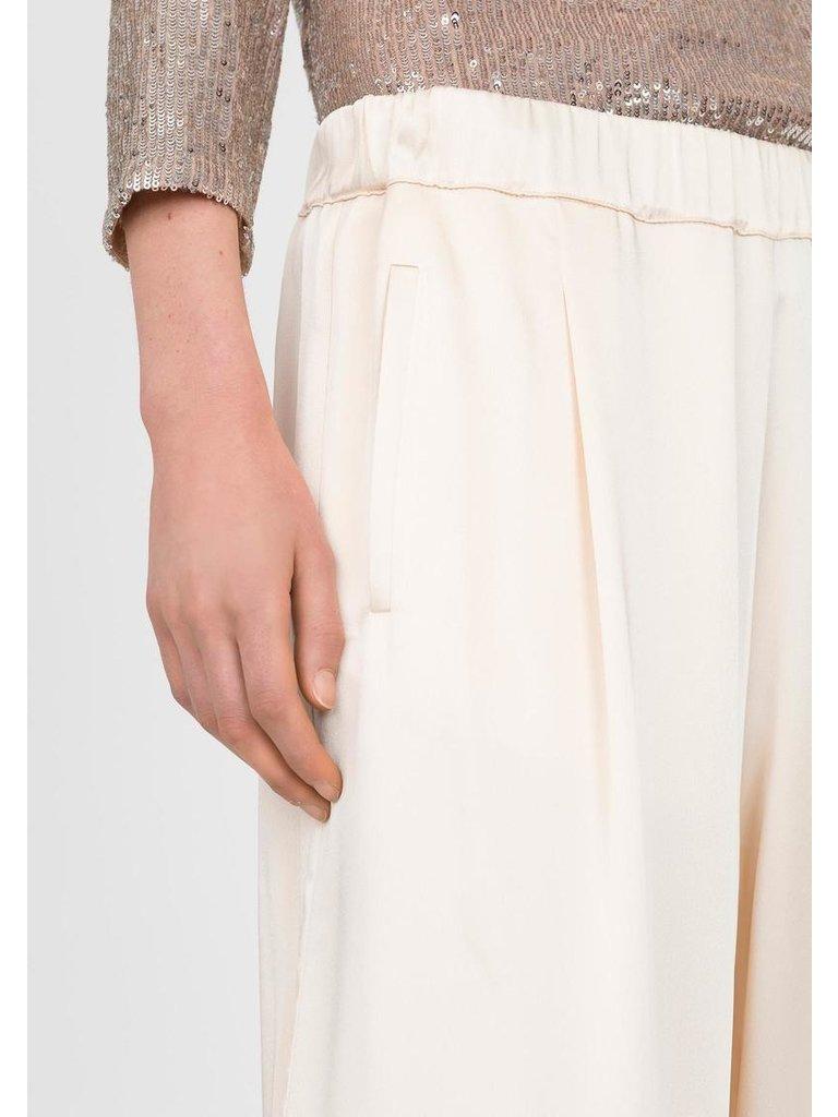 Semicouture Semicouture losvallende pantalon creme
