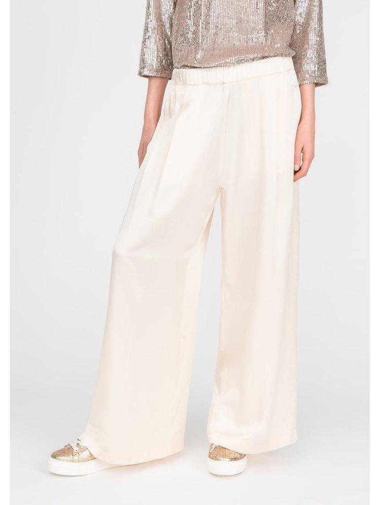 Semicouture losvallende pantalon creme