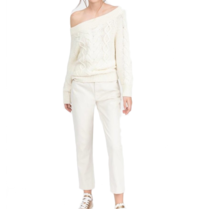 Semicouture off-shoulder sweater with cream motif