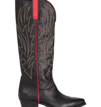 Semicouture Michelle cowboy boots with red details black